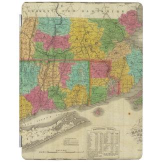 Karta av Massachusetts och Connecticut iPad Skydd