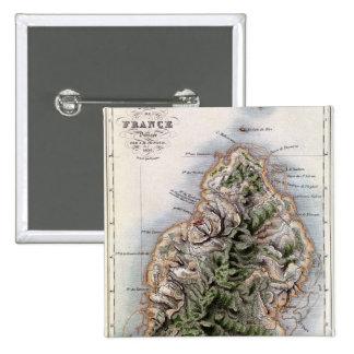Karta av Mauritius, illustration 'Paul et Virginie Standard Kanpp Fyrkantig 5.1 Cm