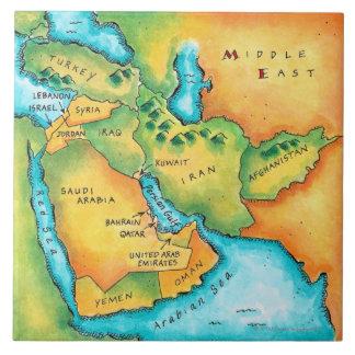 Karta av mellan östern stor kakelplatta