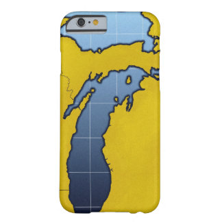 Karta av Michigan 2 Barely There iPhone 6 Fodral