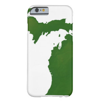 Karta av Michigan Barely There iPhone 6 Fodral