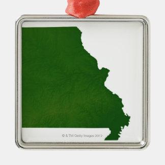 Karta av Missouri Julgransprydnad Metall