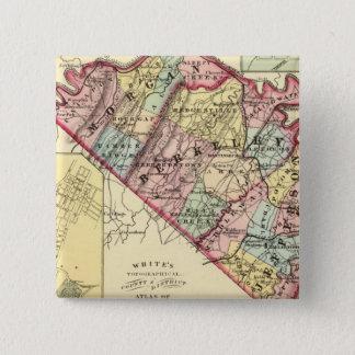 Karta av Morgan, Berkeley och Jefferson län Standard Kanpp Fyrkantig 5.1 Cm