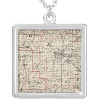 Karta av Morgan & Scott län Silverpläterat Halsband