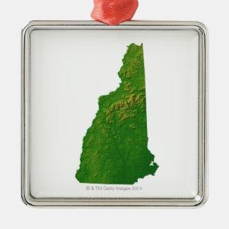 Karta av New Hampshire Julgransprydnad Metall