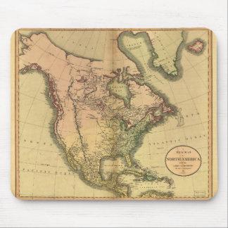 Karta av Nordamerika av John Cary (1811) Musmatta