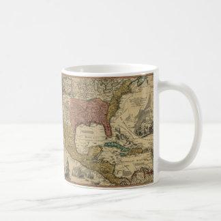 Karta av norden & Central America vid J Homann Kaffemugg