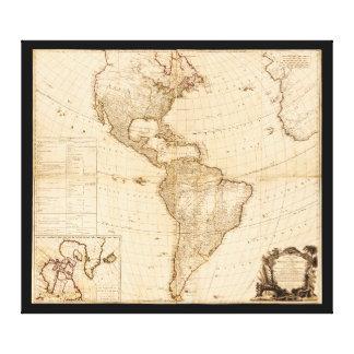 Karta av norden & South America (1786) Canvastryck