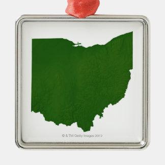 Karta av Ohio Julgransprydnad Metall