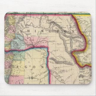 Karta av Oregon, Washington Musmatta