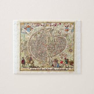 Karta av Paris, 1576 Pussel