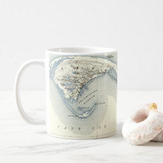 Karta av Provincetown uddtorsk Massachusetts Kaffemugg