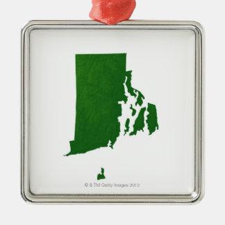 Karta av Rhode - ö 2 Julgransprydnad Metall