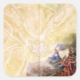 Karta av Rocroi, från 'Kartbok de Louis XIV' Fyrkantigt Klistermärke