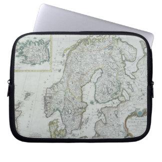 Karta av skandinavien laptop fodral