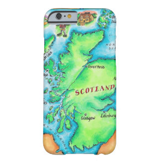 Karta av Skottland Barely There iPhone 6 Fodral