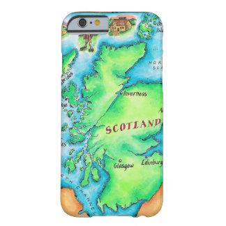 Karta av Skottland Barely There iPhone 6 Skal