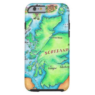 Karta av Skottland Tough iPhone 6 Skal