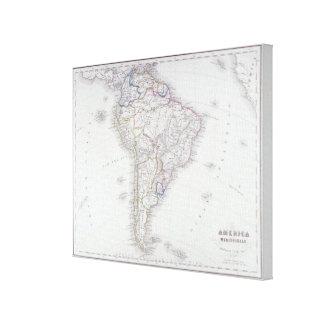Karta av South America 2 Canvastryck