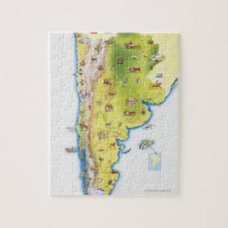 Karta av South America Pussel