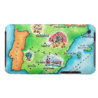 Karta av Spanien iPod Touch Case-Mate Fodral