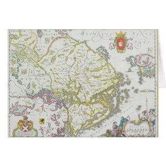 Karta av Stockholm, sverige Hälsningskort