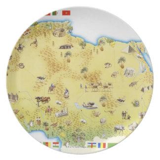 Karta av Sydafrika 2 Dinner Plates