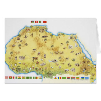 Karta av Sydafrika 2 Hälsningskort