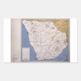 Karta av Sydafrika (December 1961) Rektangulärt Klistermärke