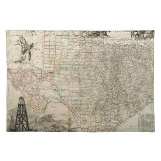 Karta av Texas med ståndsmässiga gränser Bordstablett