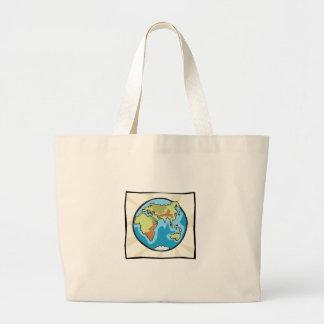 Karta av vår jorddesign kassar