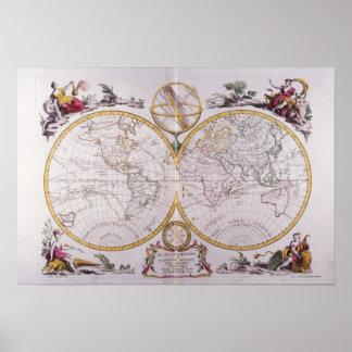 Karta av världen 8 poster