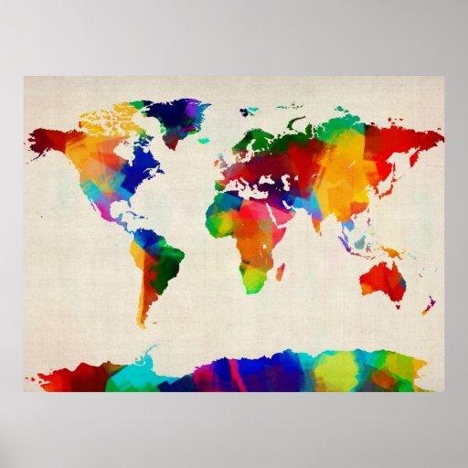 Karta av världskartan från gammal notblad