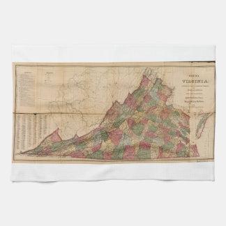 Karta av Virginia (1871) Kökshandduk