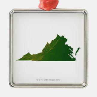 Karta av Virginia Julgransprydnad Metall