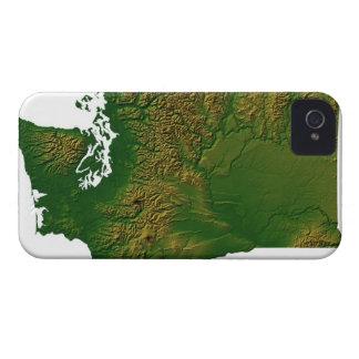 Karta av Washington 3 iPhone 4 Case-Mate Fodraler