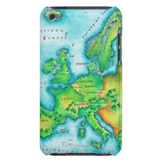 Karta av westerna Europa Barely There iPod Hud