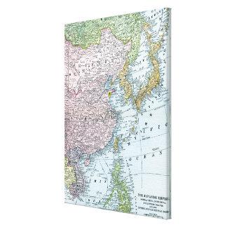 KARTA: EAST ASIA 1907 CANVASTRYCK