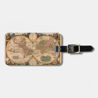 Karta för gammal värld av Nicolaas Visscher Bagagebricka