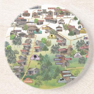 Karta för Har-Ber bymuseum Underlägg Sandsten