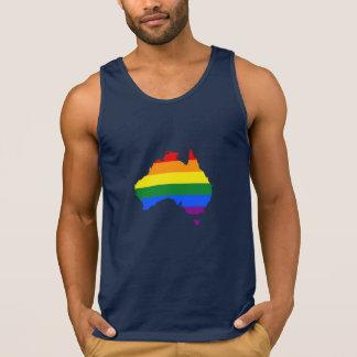 Karta för LGBT-regnbågepride av Australien Tanktop
