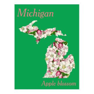 Karta för MichiganblommaCollage Vykort