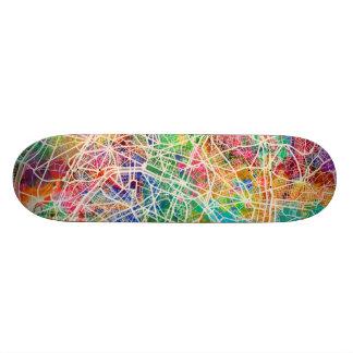 Karta för Paris frankrikegata Old School Skateboard Bräda 18 Cm