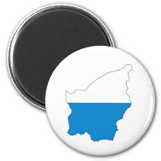 karta för San Marino landflagga Magnet