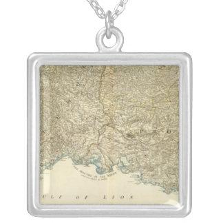 Karta för SE-frankrikekartbok Silverpläterat Halsband