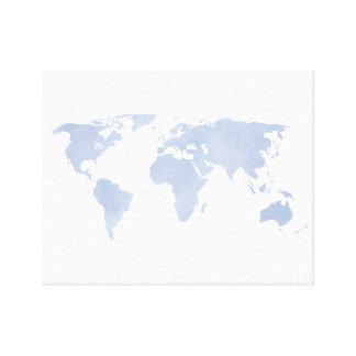 Karta för Serenityblåttvärld Canvastryck