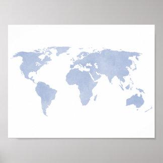 Karta för Serenityblåttvärld Poster