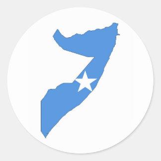 karta för somalia landflagga runt klistermärke