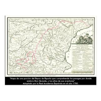 Karta för universitetslärareQuixote rutt - Vykort