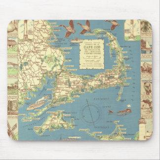 Karta för vintageuddtorsk 1940 mus mattor
